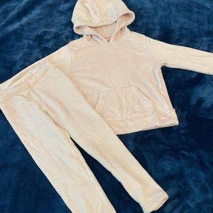 32 degrees Girls cozy track suit sz 3/4